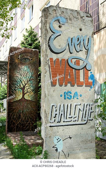 Berlin wall sections with art, Berlin, Germany