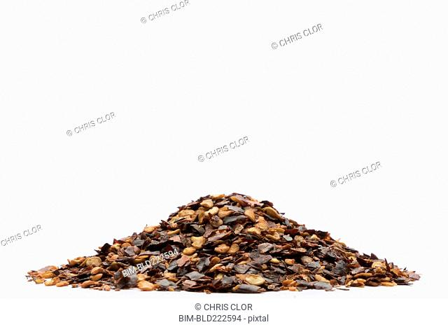 Pile of pepper flakes