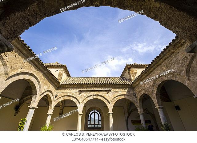 Old slaughterhouse and market of the XVI century in Priego de Cordoba in Andalucia in southern Spain