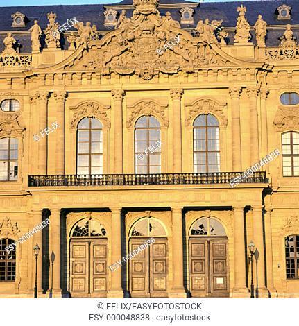 Baroque episcopal Residenz (1719-44, by Balthasar Neumann). Würzburg. Germany