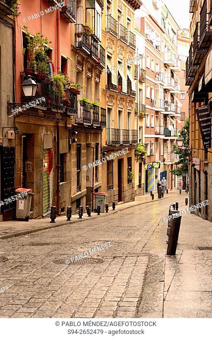 Escalinata street in Madrid center, Spain