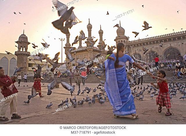 India. Hyderabad. Mecca Masjid mosque