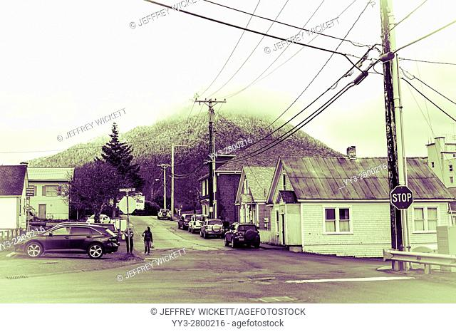 Neighborhood near downtown Sitka, Alaska, USA