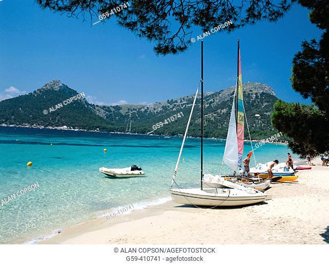Cala Pi de la Posada, Formentor Cape, Mallorca, Balearic Islands, Spain