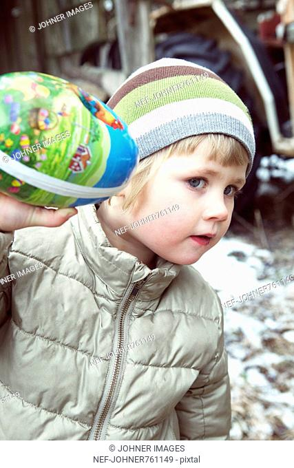 A little girl with an Easter egg, Sweden