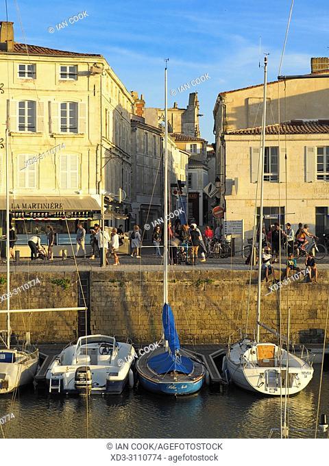 harbour and Quai Job Foran, Saint-Martin-de-Re, Ile de Re, Charente-Maritime Department, Nouvelle Aquitaine, France