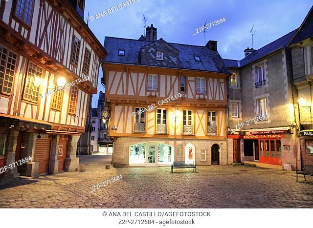Vannes, timbered houses in Brittany, France