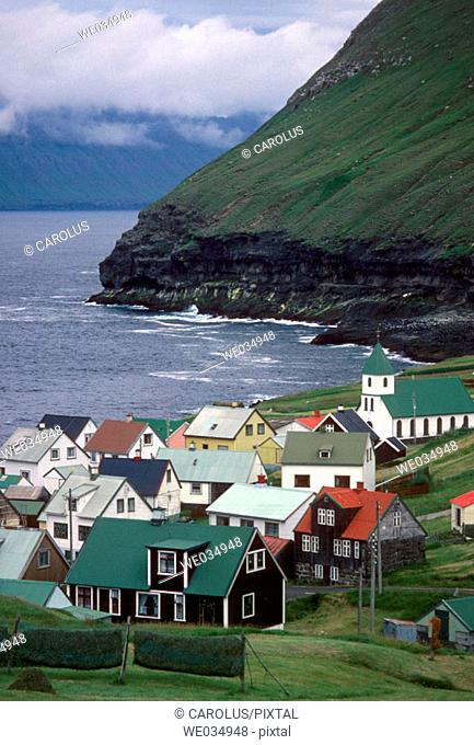 Gjógv. Island of Eysturoy. Faroe Islands. Denmark