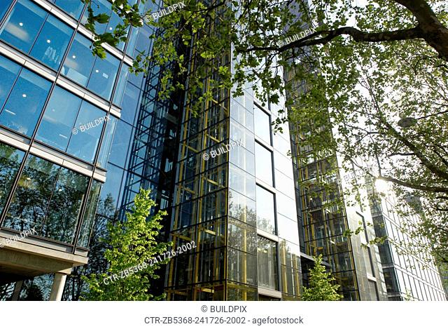 Waterside', designed by Richard Rogers Partnership and houses the headquarters of Marks & Spencer, Paddington Basin, West London, UK