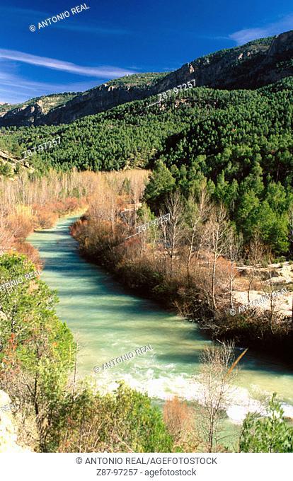 Segura River near Yeste. Albacete province, Castilla-La Mancha. Spain