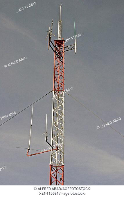 antenna, telecommunications, telephony, Pinos, Solsones, Catalonia, Spain