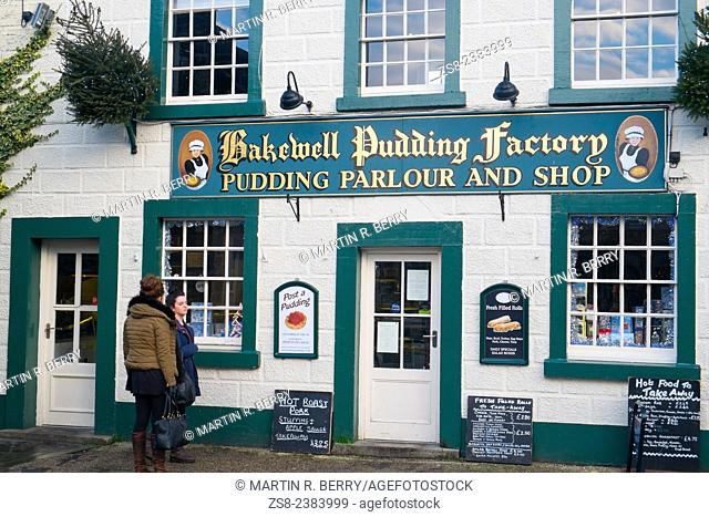 Bakewell famous pudding and parlour shop in Bakewell,Derbyshire,England
