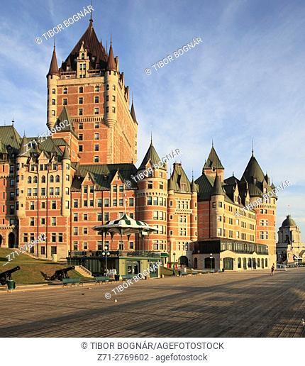 Canada, Quebec City, Chateau Frontenac, Terrasse Dufferin,