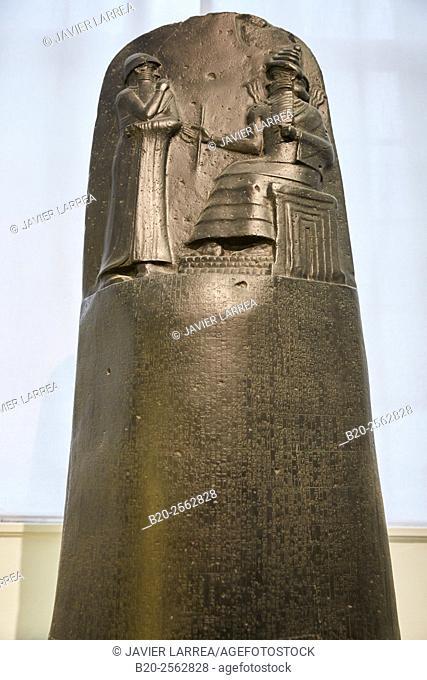 Code of Hammurabi, Babylon, Pergamon Museum, Berlin, Germany