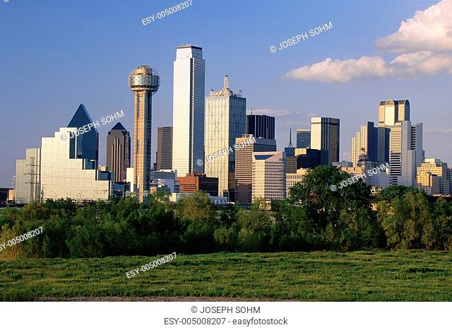 Scenic Dallas skyline