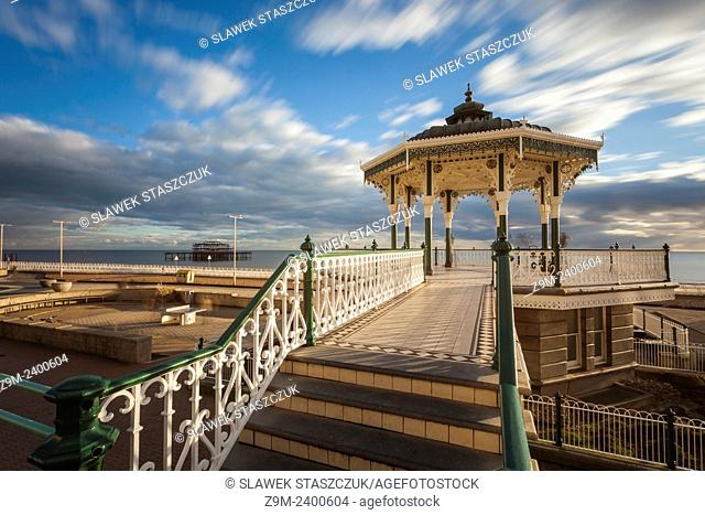 Afternoon at the Bandstand on the seafront in Brighton, UK