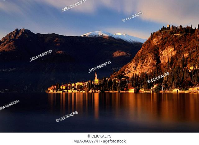 Sunset in Varenna, Lake Como, Lombardy, Italy