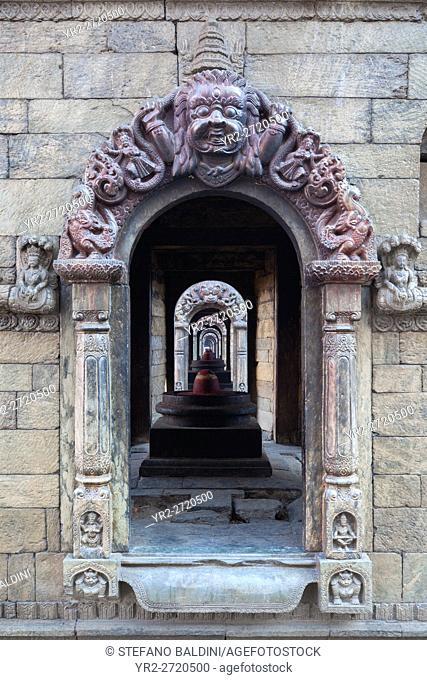 Doorway to Chaityas, Pashupatinath temple, Nepal