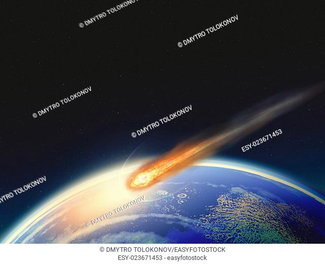 Deep impact. Abstract science backgrounds