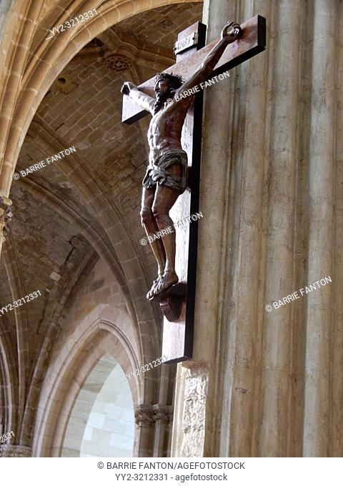 Crucifix, Cathedral of Notre-Dame de Sainte-Marie. Bayonne, France
