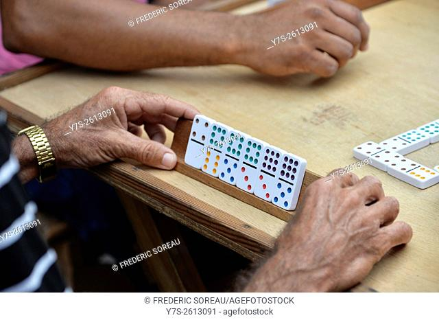 Playing domino in Trinidad, Cuba