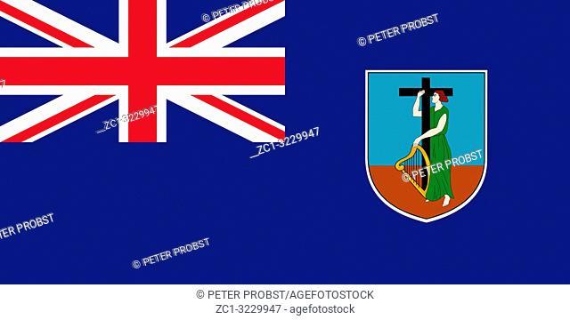 Flag of the British overseas territory Montserrat