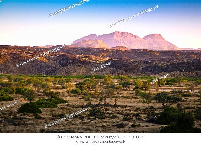 Scenic landscape in the Damaraland, Namibia, Africa