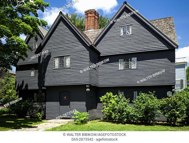 USA, Massachusetts, Salem, Salem Witch House, summer