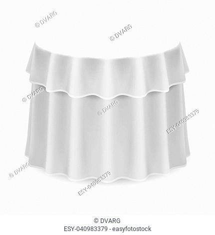 Round Table With Tablecloth.Round Table Tablecloth Stock Photos And Images Age Fotostock