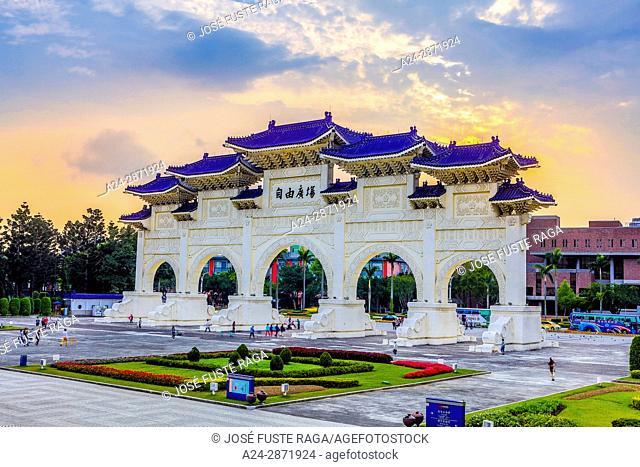 Taiwan, Taipei City, Gate to Liberty Square and Chiang Kai-shek Hall