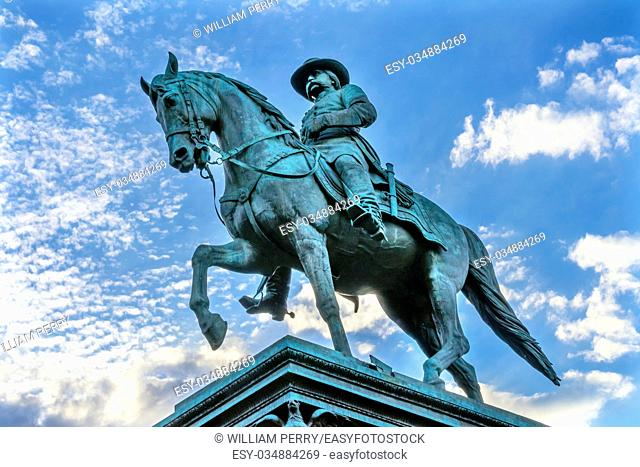 General John Logan Memorial Civil War Statue Logan Circle Washington DC. Statue dedicated in 1901, Sculptors Franklin Simmons and Richard Hunt
