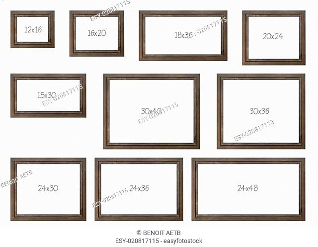 The Ten Most popular Selling Frames Dimensions