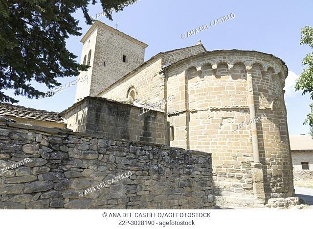 San Miguel de Orna church Serrablo romanesque route in Valley of Tena. Huesca, Aragon, Spain
