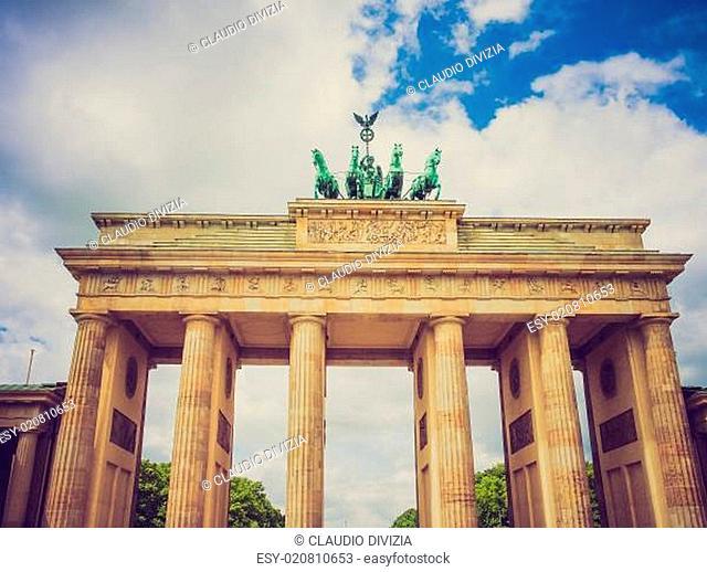 Retro look Brandenburger Tor Berlin