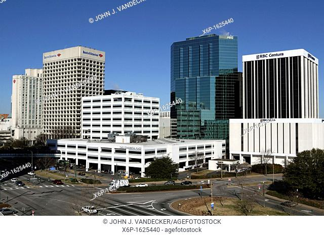 The skyline of Norfolk, Virginia, USA  Norfolk, Virginia is also home to the US Navy's Atlantic Fleet