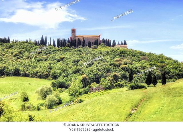 Sant'Anna in Camprena, Castelmuzio, Tuscany, Italy