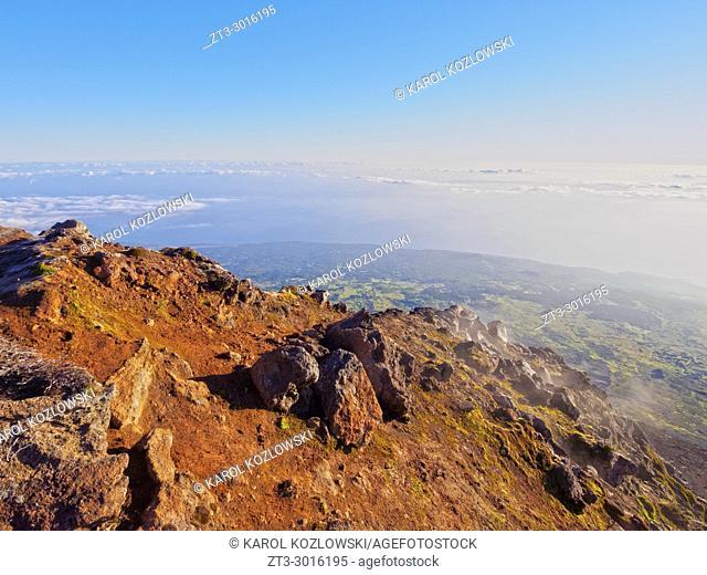 Mount Pico at sunrise, Pico Island, Azores, Portugal