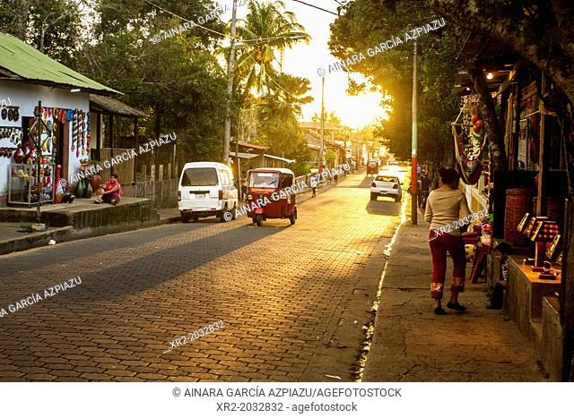 Traffic on the streets of Catarina village, Nicaragua