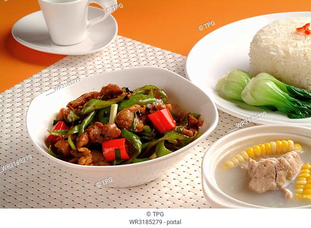 stir fried beef with vegetable
