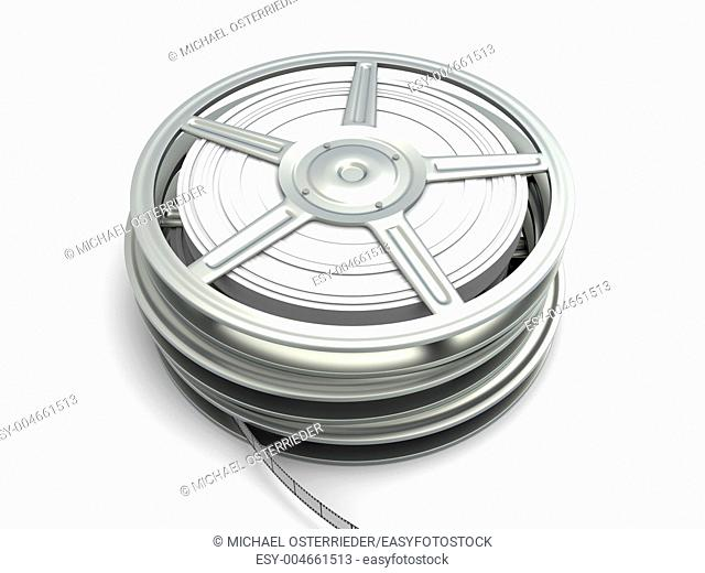 Film reel  3D rendered Illustration  Isolated on white