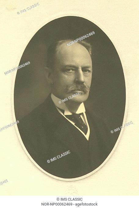 Portrait of a man encircled