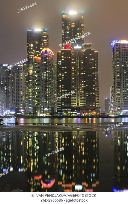 Marine City at Night, Busan, South Korea