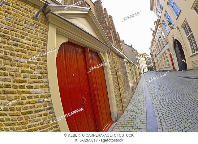 Street Scene, Breda, Noord-Brabant Province, Holland, Netherlands, Europe