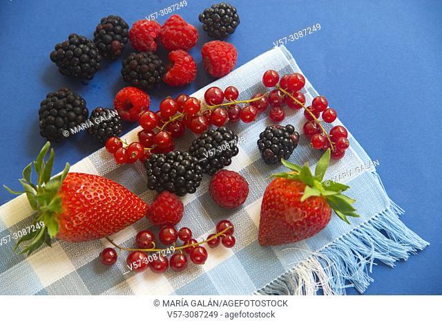 Assorted berries. Still life