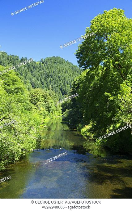 Alsea River, Five Rivers Boat Ramp, Lincoln County, Oregon