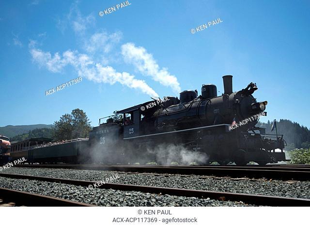 Oregon Coast Scenic Railroad in Garibaldi, Oregon, USA