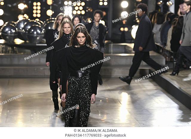 Isabel Marant runway show during Paris Fashion Week, AW19, Autumn Winter 2019 collection - Paris, France 28/02/2019   usage worldwide. - Paris/France