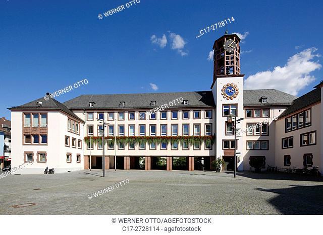 D-Worms, Rhine, Upper Rhine, Rhenish Hesse, Rhine-Neckar area, Rhine-Main district, Rhineland-Palatinate, city hall and market place
