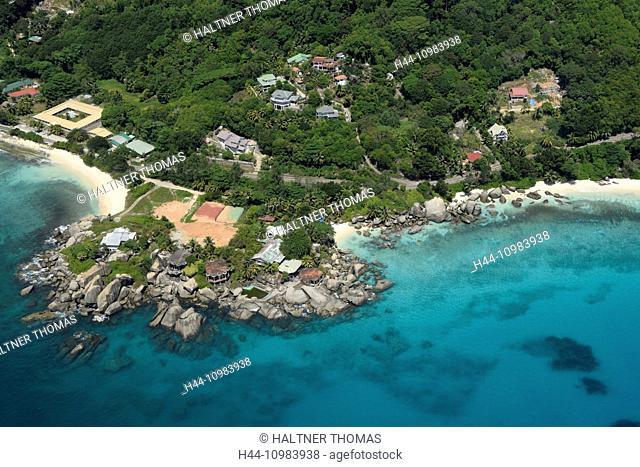 aerial of Mahe, Seychelles