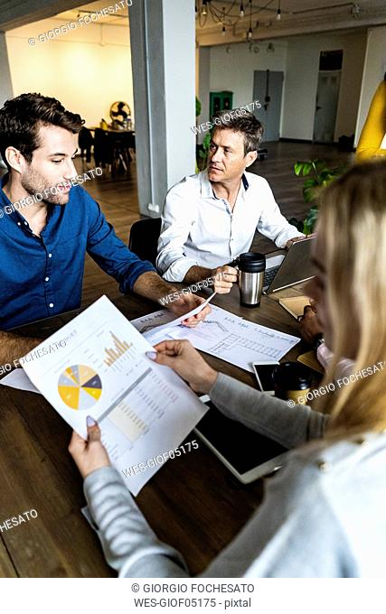 Business team having a meeting in loft office